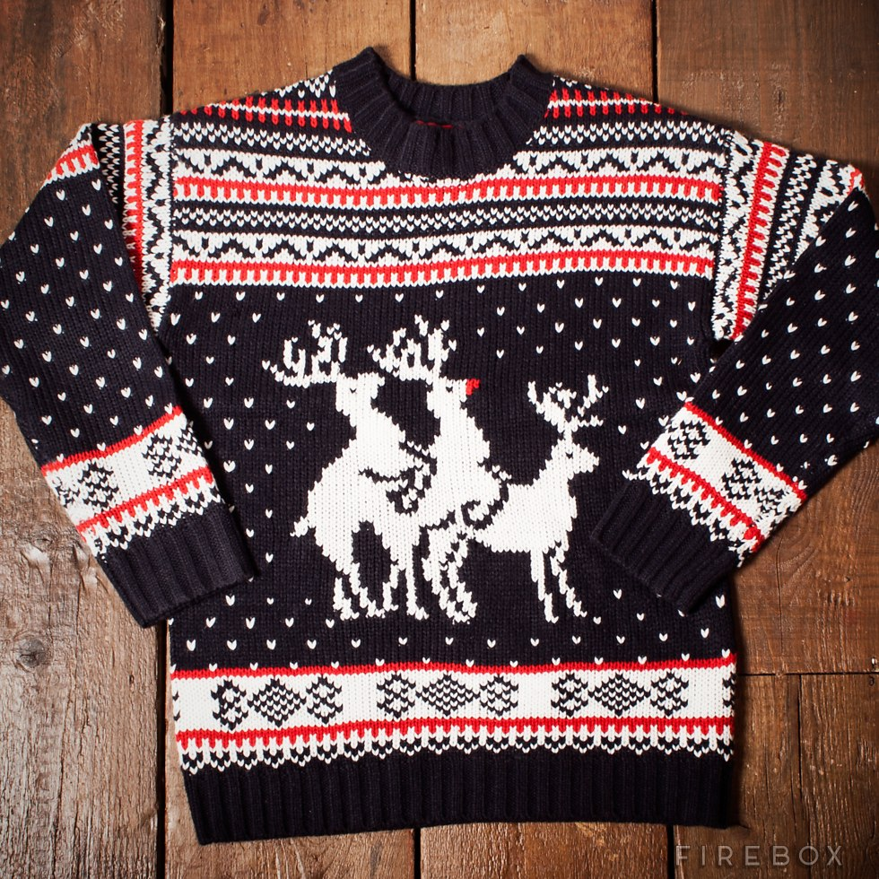 MAGLIONE NATALIZIO CON RENNEREINDEER THREESOME CHRISTMAS ...