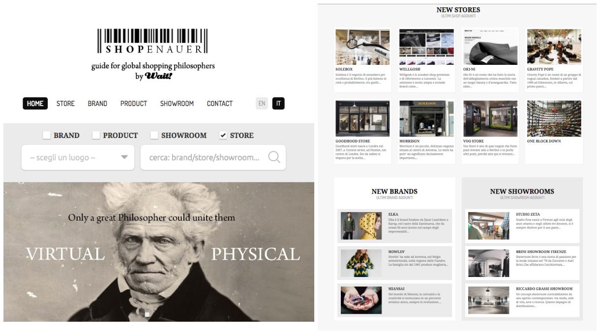 Wait lancia shopenauer: il primo portale per negozi, brand e showroom che unisce il reale al virtuale