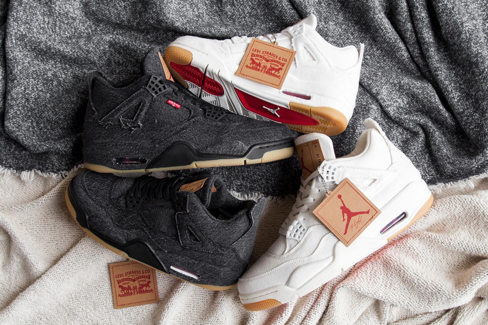 promo code 0df11 a9cae Levi's x Air Jordan 4, il jeans ai tuoi piedi