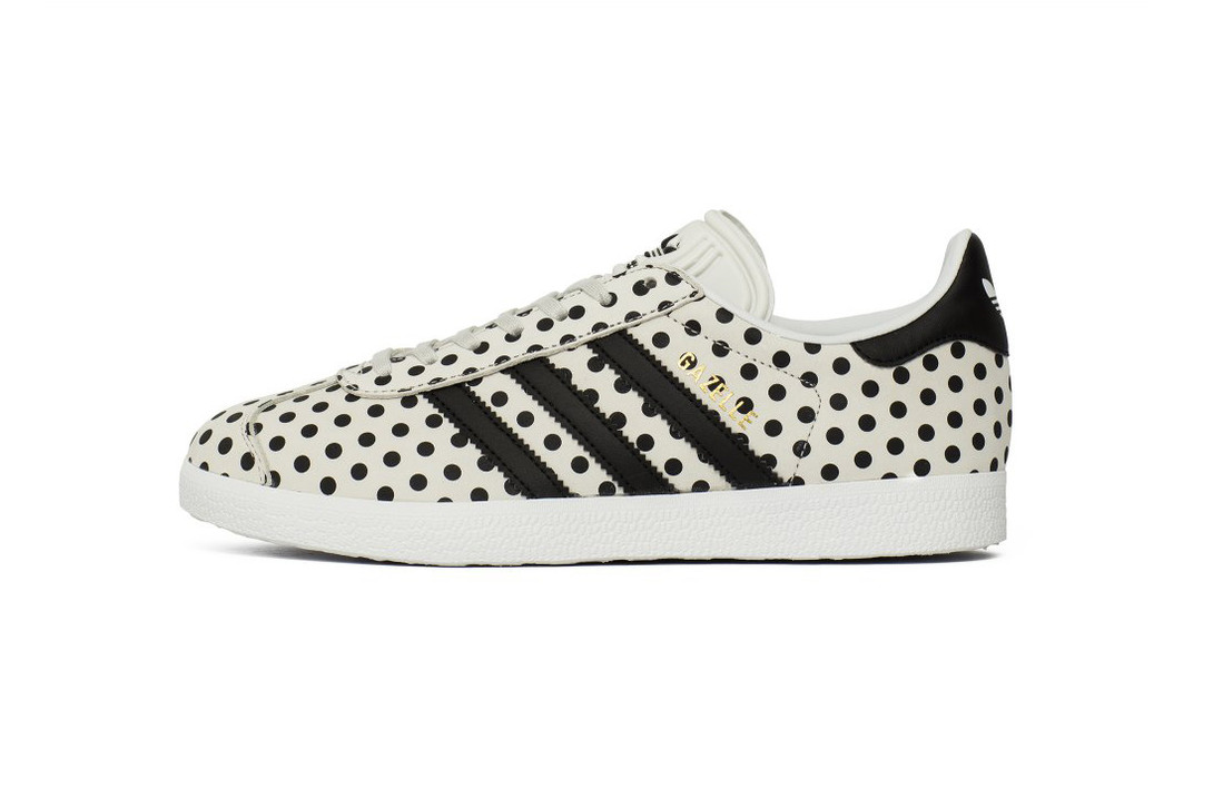 the best attitude 60975 f3018 Collaborating with the Brazilian design company The Farm Company, the  latest version of the Adidas Gazzelle, highlights an eye-catching polka dot  motif ...