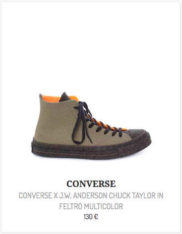 Felt, la nuova Converse Chuck 70 firmata J.W. Anderson