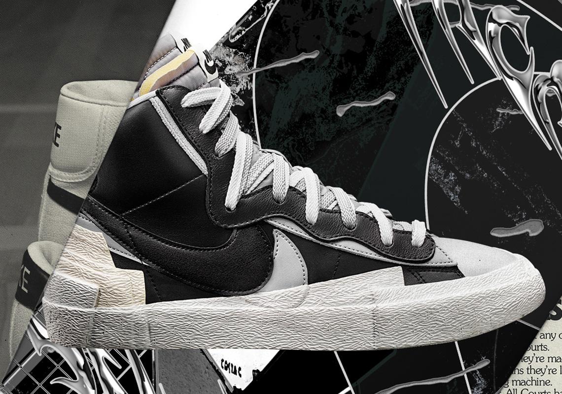 Sacai x Nike Blazer High, ecco