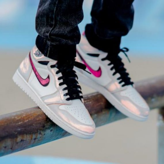 air jordan 1 grigie e rosa